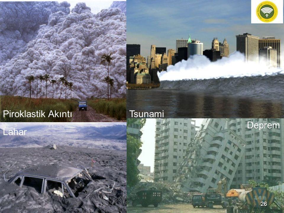 Piroklastik Akıntı Tsunami Deprem Lahar