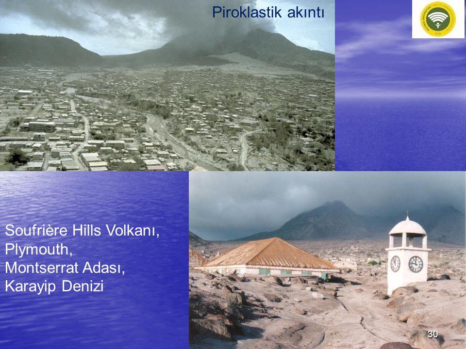Piroklastik akıntı Soufrière Hills Volkanı, Plymouth, Montserrat Adası, Karayip Denizi