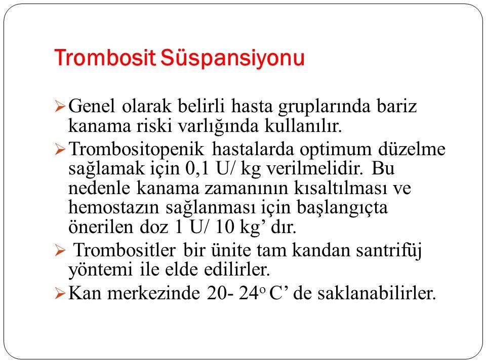 Trombosit Süspansiyonu