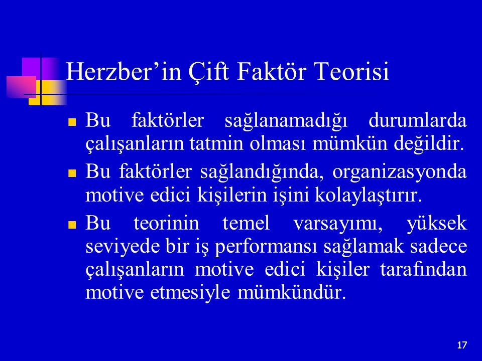 Herzber'in Çift Faktör Teorisi