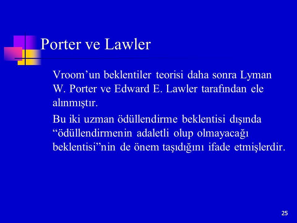 Porter ve Lawler Vroom'un beklentiler teorisi daha sonra Lyman W. Porter ve Edward E. Lawler tarafından ele alınmıştır.