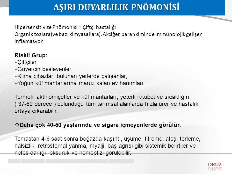 AŞIRI DUYARLILIK PNÖMONİSİ