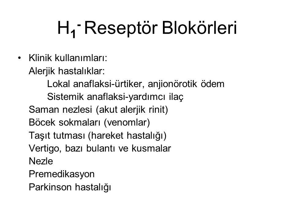 H1- Reseptör Blokörleri