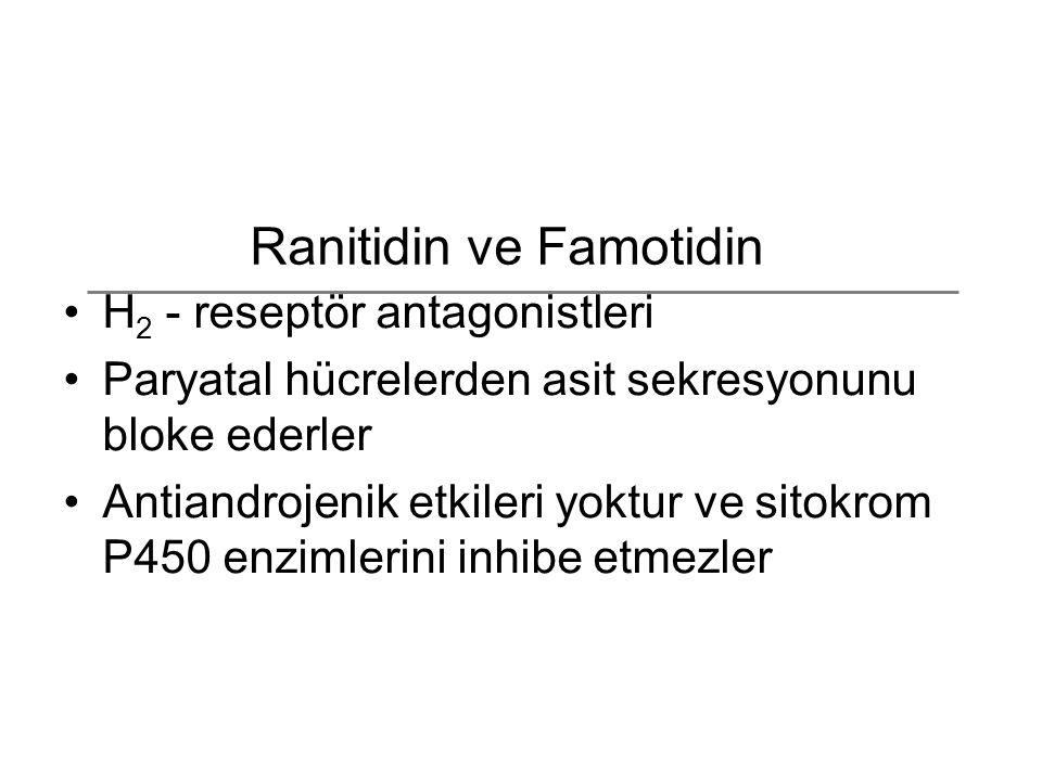 Ranitidin ve Famotidin