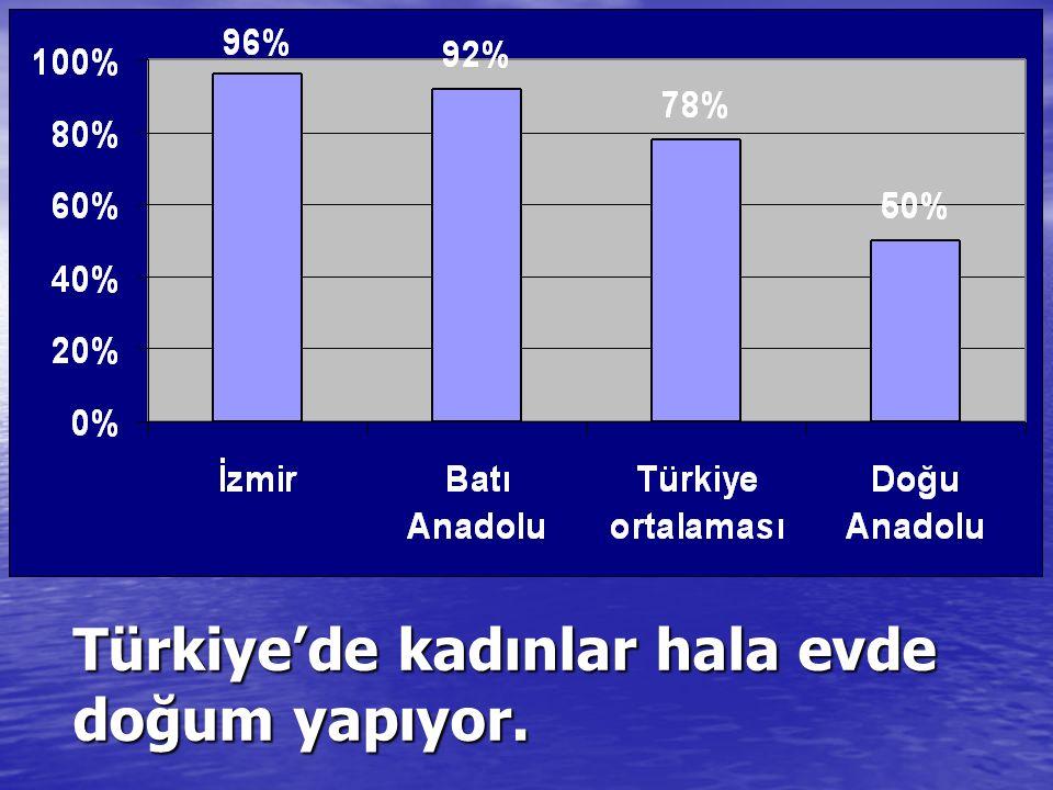 Türkiye'de kadınlar hala evde doğum yapıyor.