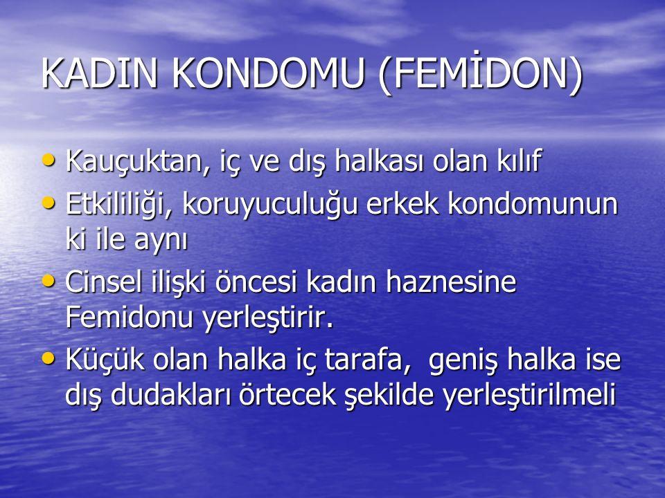 KADIN KONDOMU (FEMİDON)