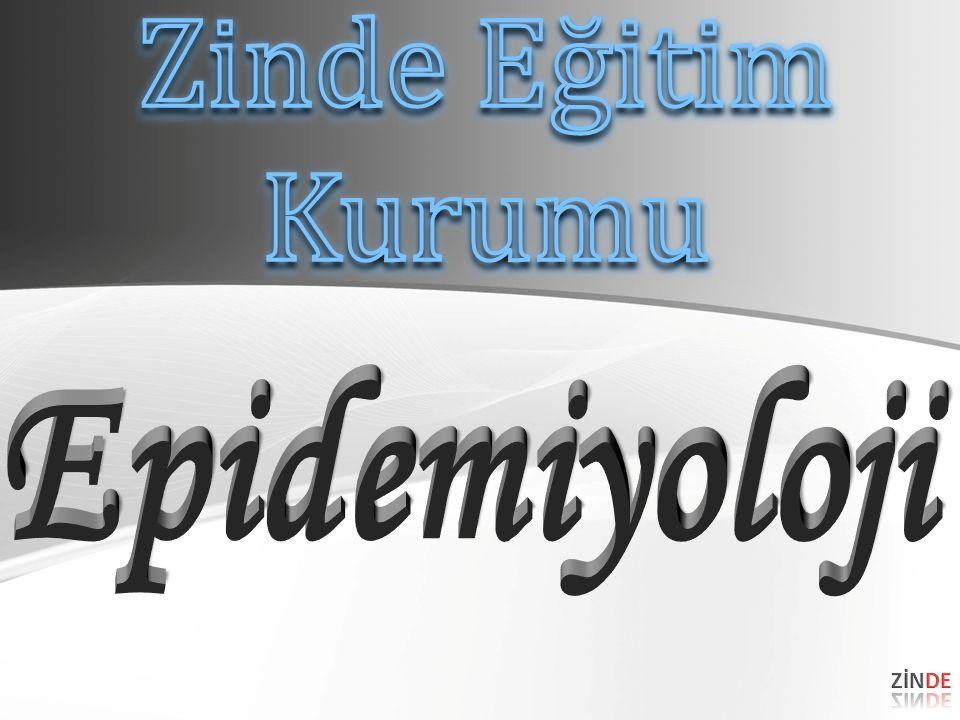 Zinde Eğitim Kurumu Epidemiyoloji ZİNDE