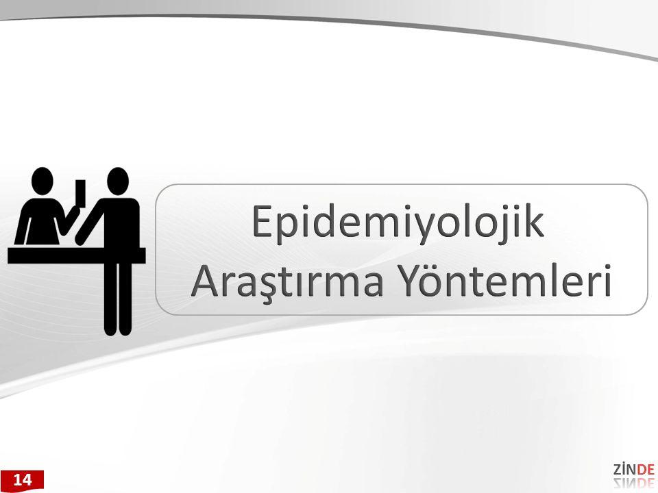 Epidemiyolojik Araştırma Yöntemleri ZİNDE 14 25 25
