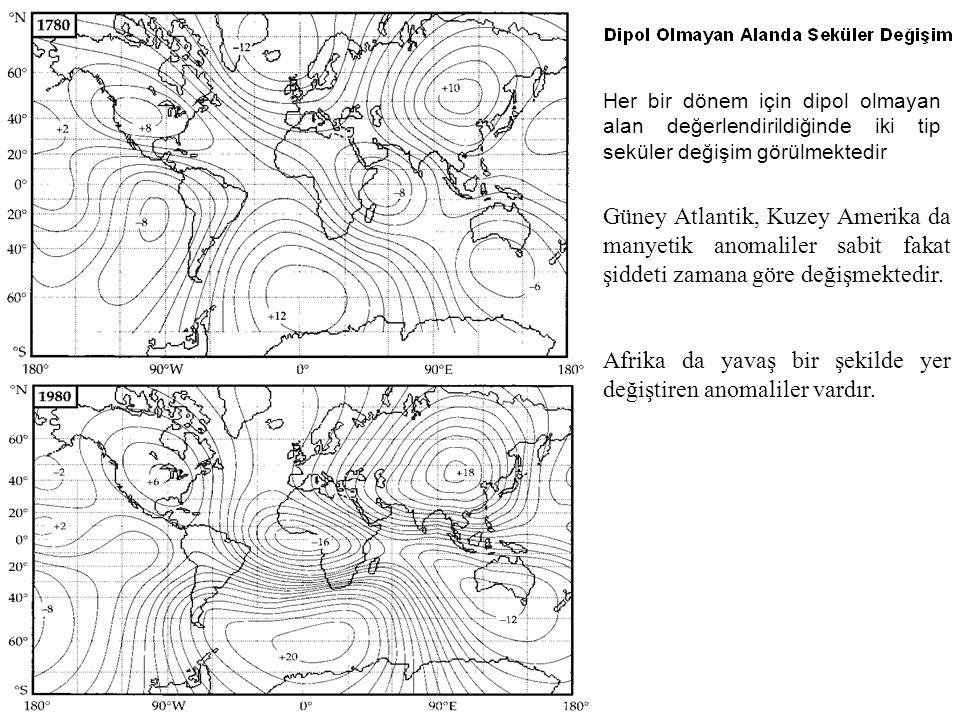 Afrika da yavaş bir şekilde yer değiştiren anomaliler vardır.