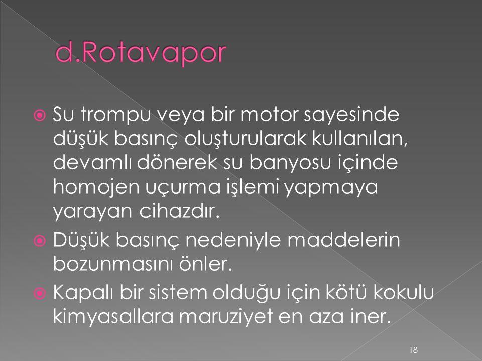 d.Rotavapor