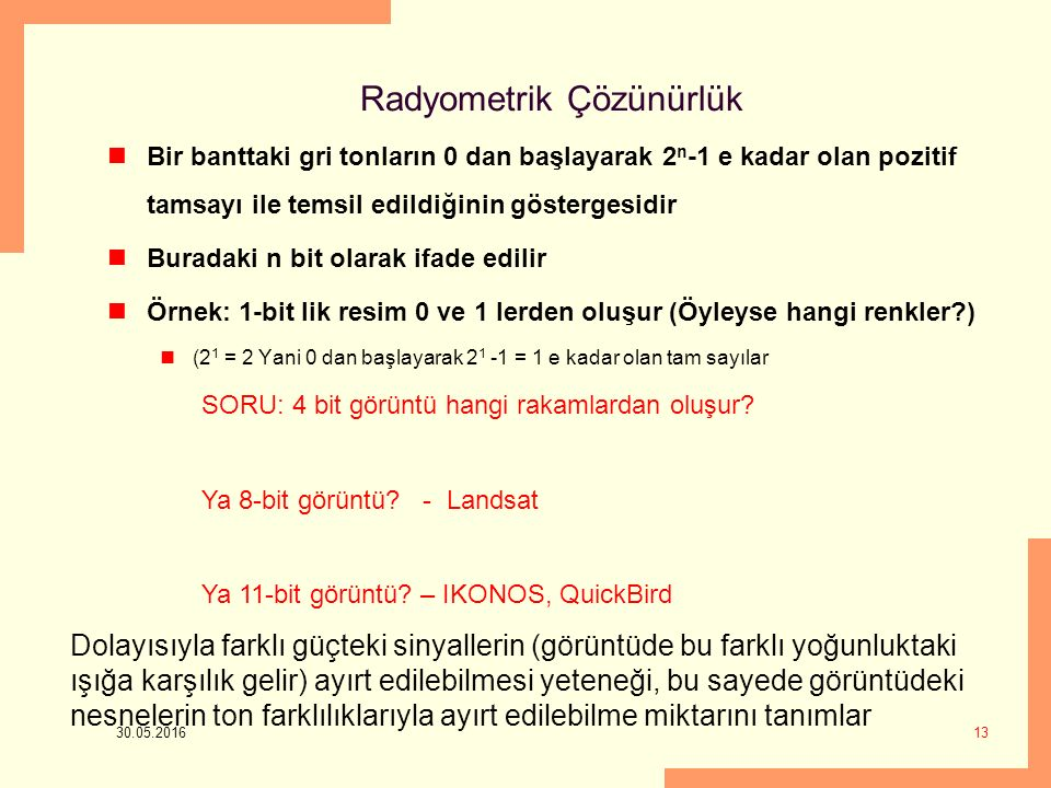 Radyometrik Çözünürlük