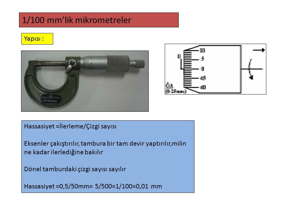 1/100 mm'lik mikrometreler
