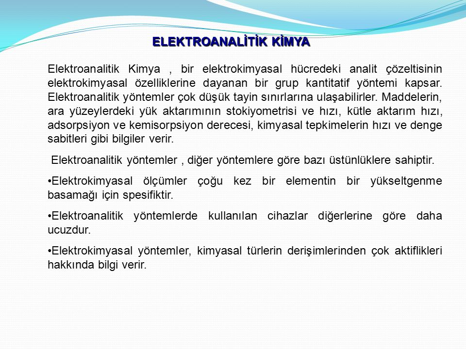 ELEKTROANALİTİK KİMYA