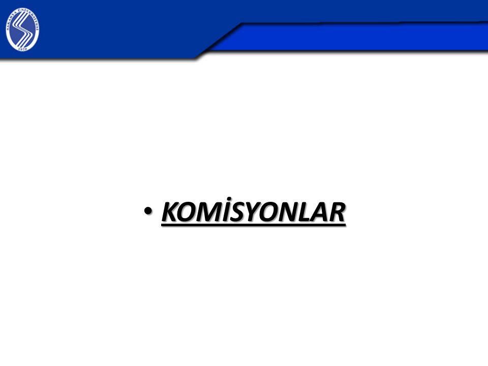 KOMİSYONLAR