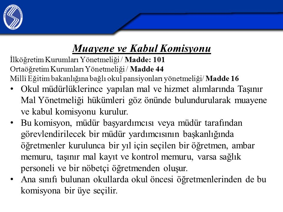 Muayene ve Kabul Komisyonu