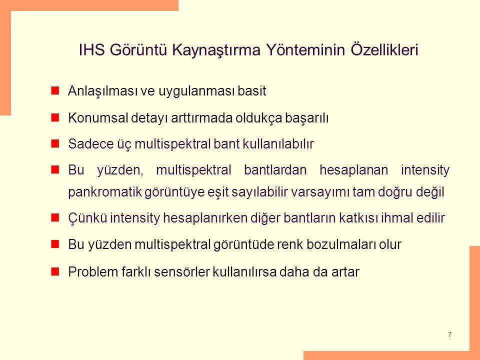 IHS Görüntü Kaynaştırma Yönteminin Özellikleri