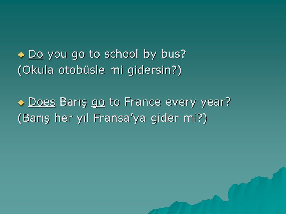 Do you go to school by bus