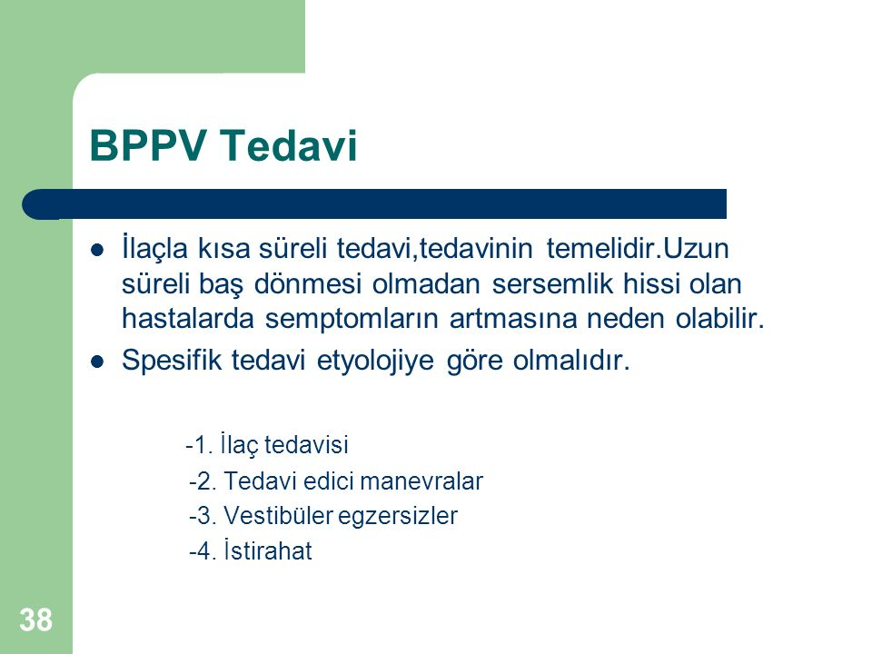 BPPV Tedavi