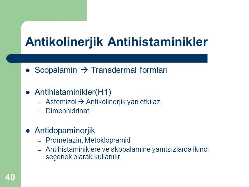 Antikolinerjik Antihistaminikler