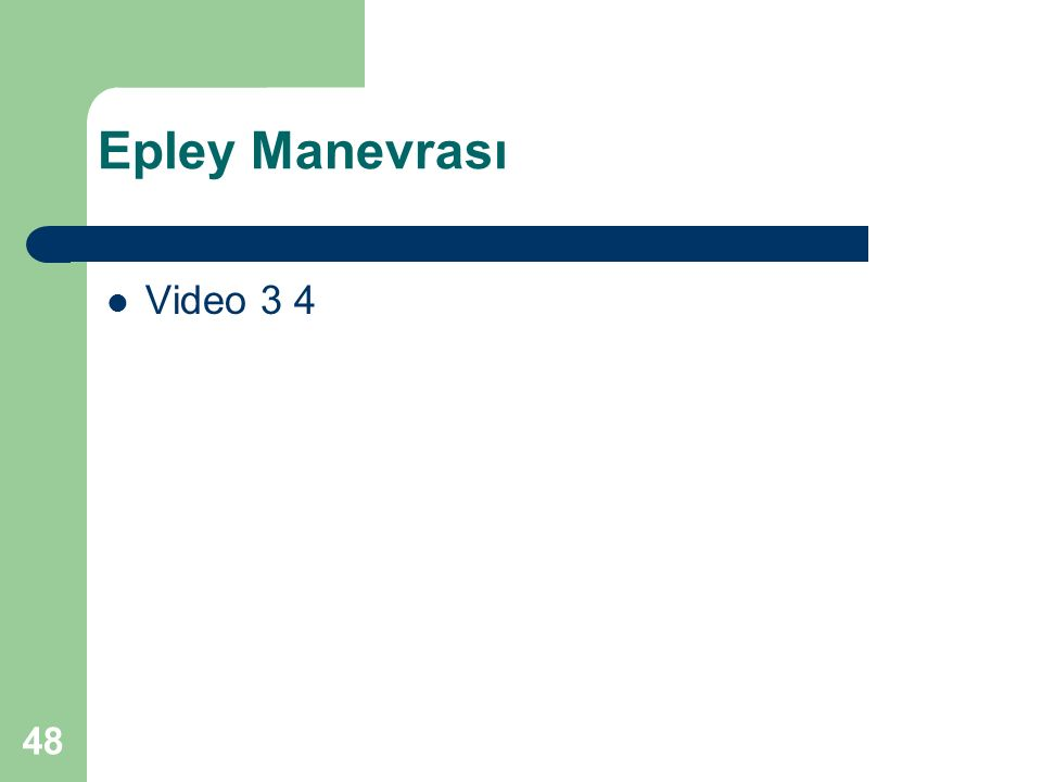 Epley Manevrası Video 3 4