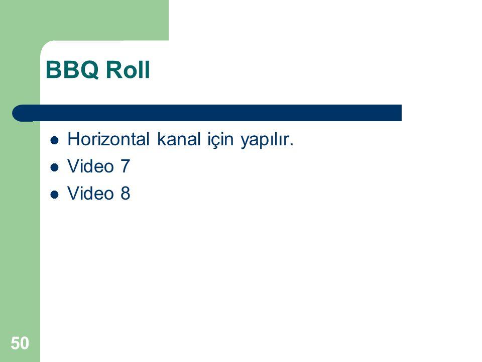 BBQ Roll Horizontal kanal için yapılır. Video 7 Video 8