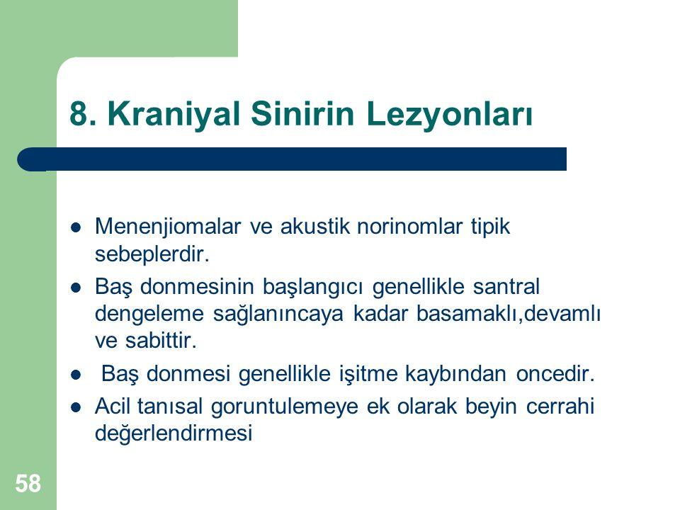 8. Kraniyal Sinirin Lezyonları