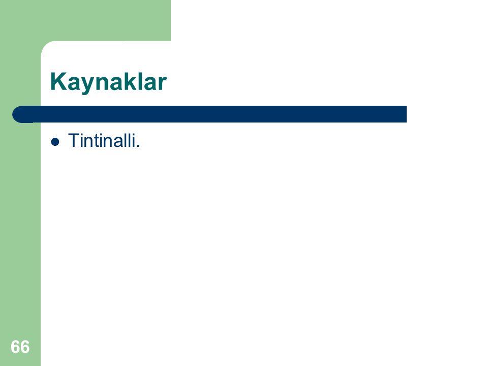 Kaynaklar Tintinalli.