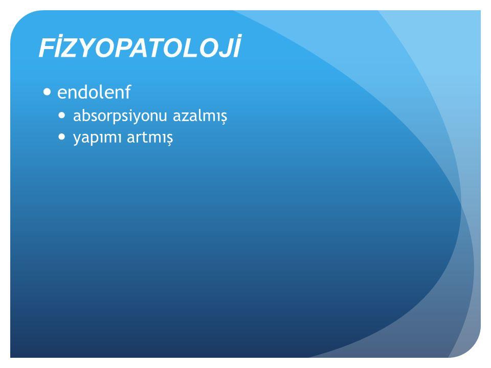FİZYOPATOLOJİ endolenf absorpsiyonu azalmış yapımı artmış