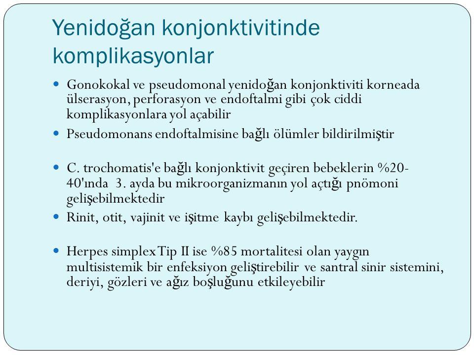Yenidoğan konjonktivitinde komplikasyonlar