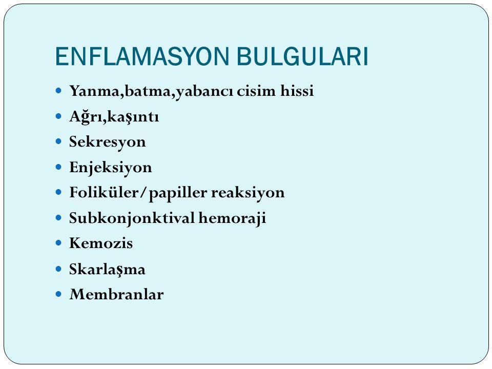ENFLAMASYON BULGULARI
