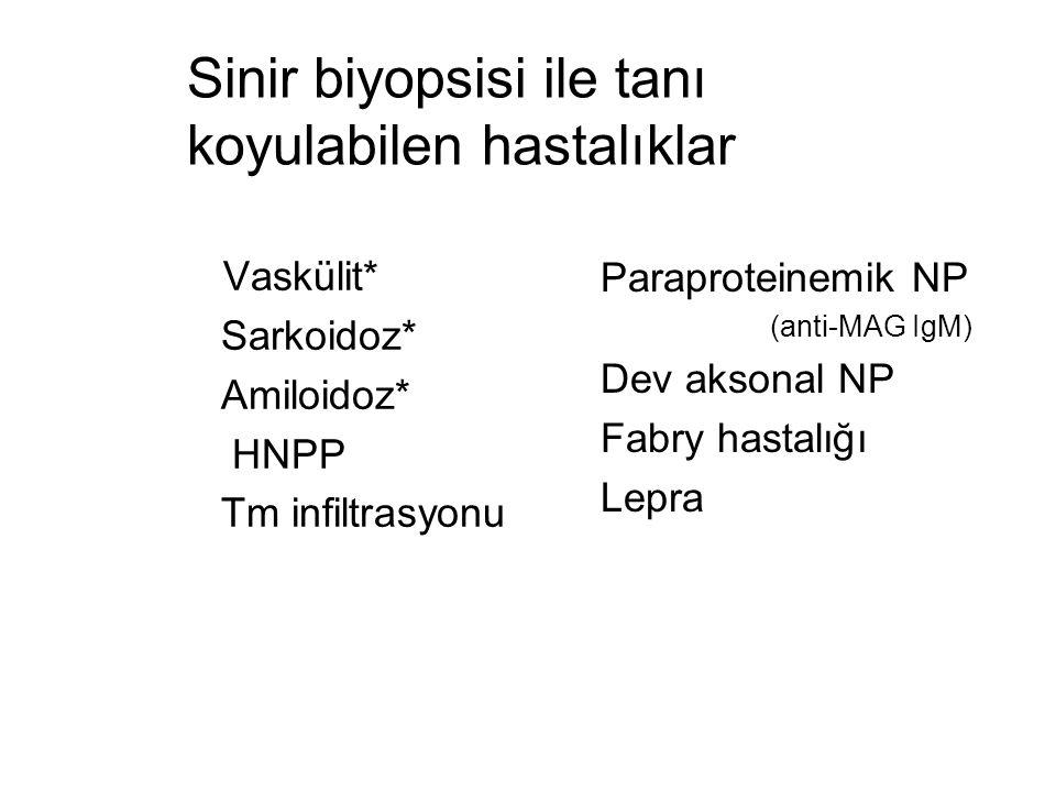 Sinir biyopsisi ile tanı koyulabilen hastalıklar