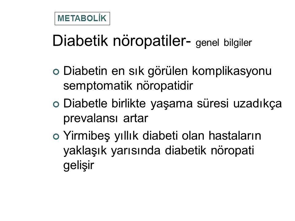 Diabetik nöropatiler- genel bilgiler