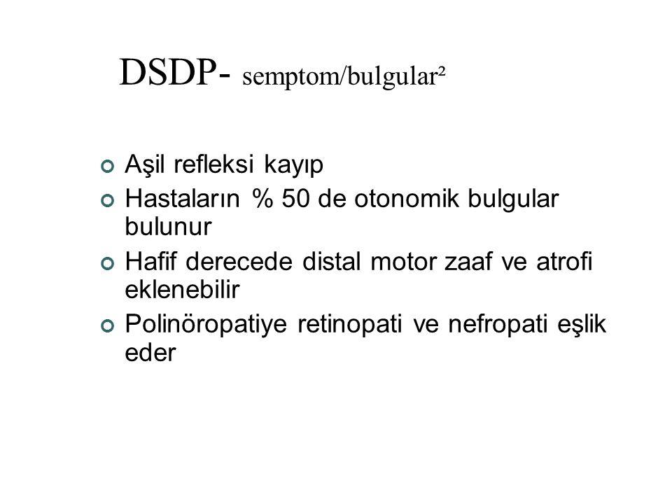 DSDP- semptom/bulgular²