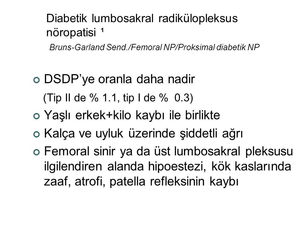 DSDP'ye oranla daha nadir (Tip II de % 1.1, tip I de % 0.3)