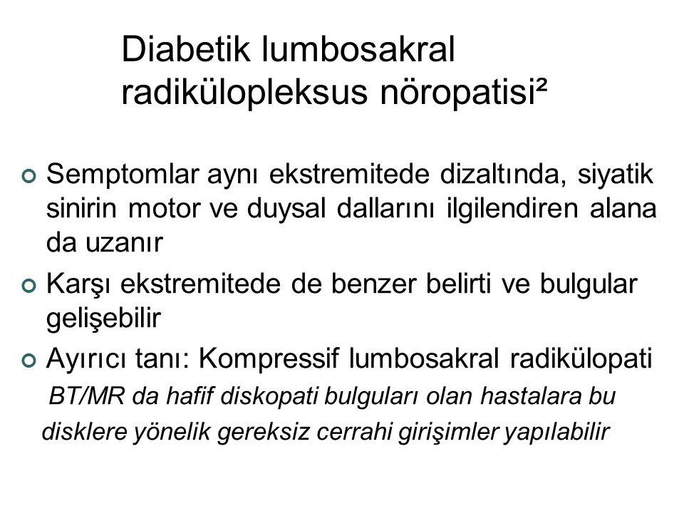 Diabetik lumbosakral radikülopleksus nöropatisi²