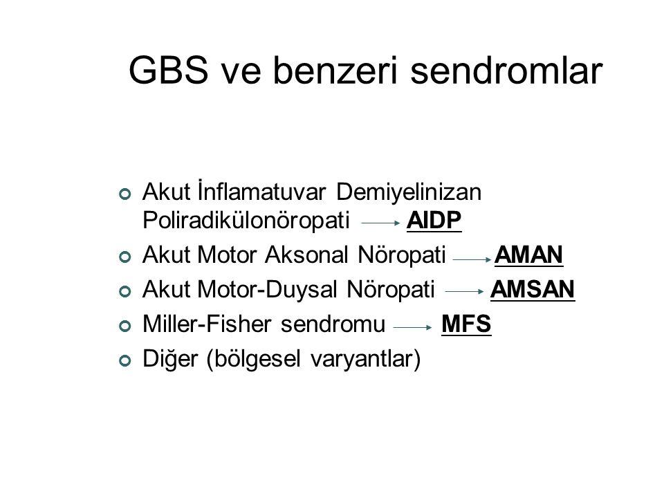GBS ve benzeri sendromlar