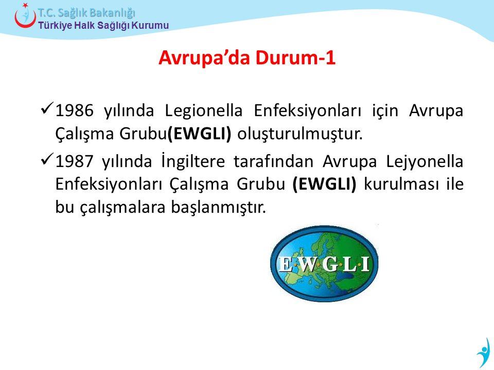 Avrupa'da Durum-1 1986 yılında Legionella Enfeksiyonları için Avrupa Çalışma Grubu(EWGLI) oluşturulmuştur.