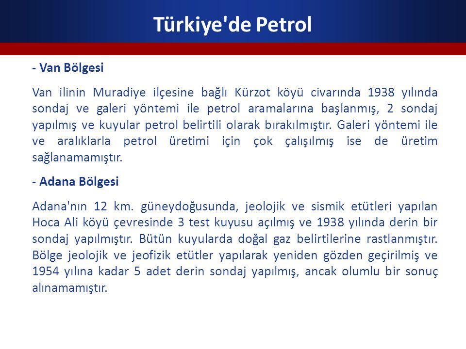 Türkiye de Petrol - Van Bölgesi