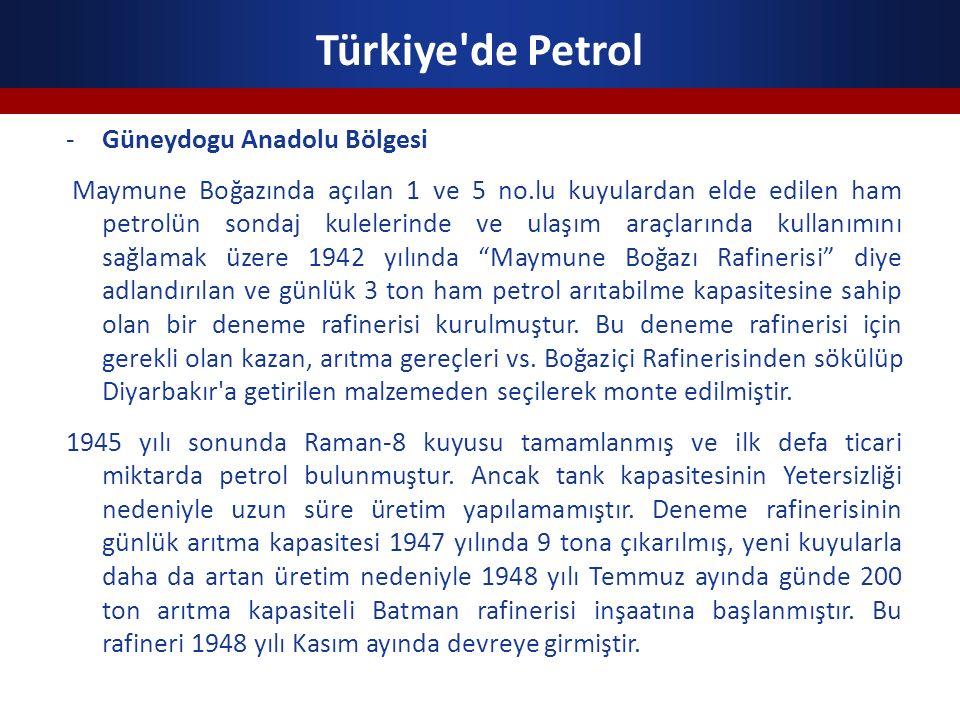 Türkiye de Petrol Güneydogu Anadolu Bölgesi