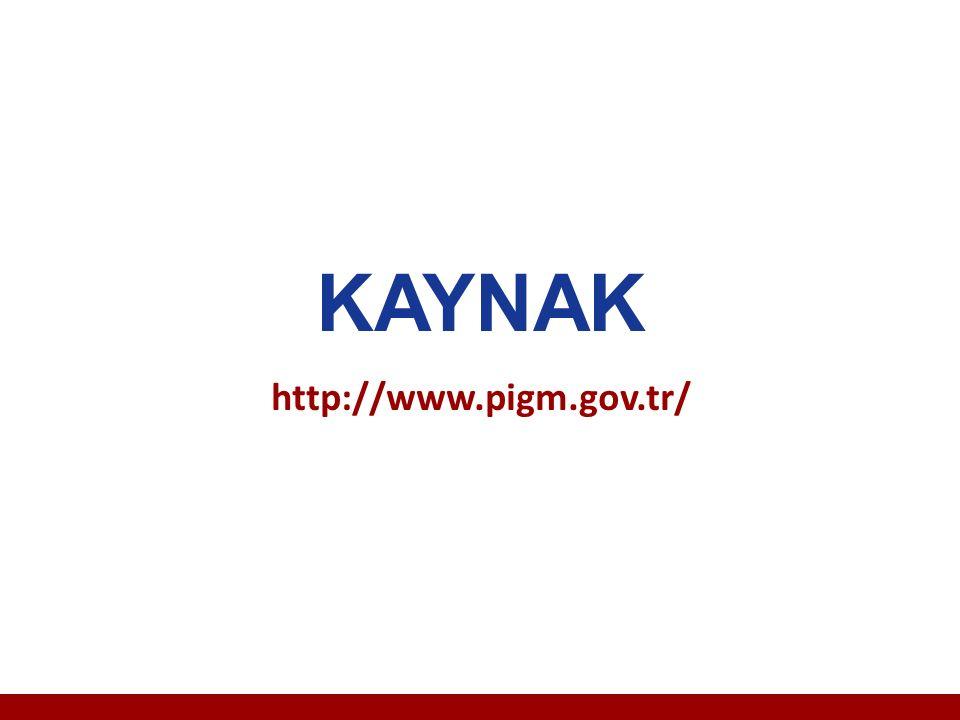 KAYNAK http://www.pigm.gov.tr/
