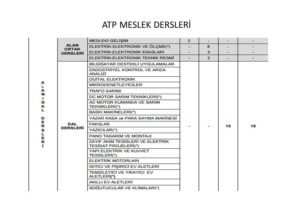 ATP MESLEK DERSLERİ