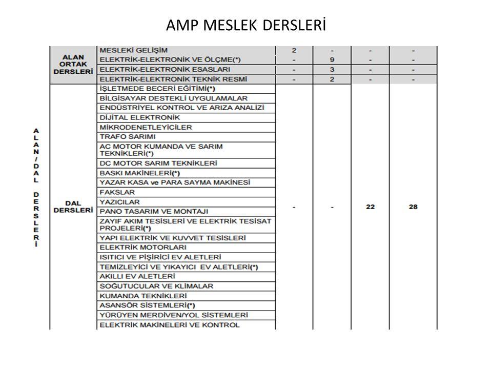 AMP MESLEK DERSLERİ