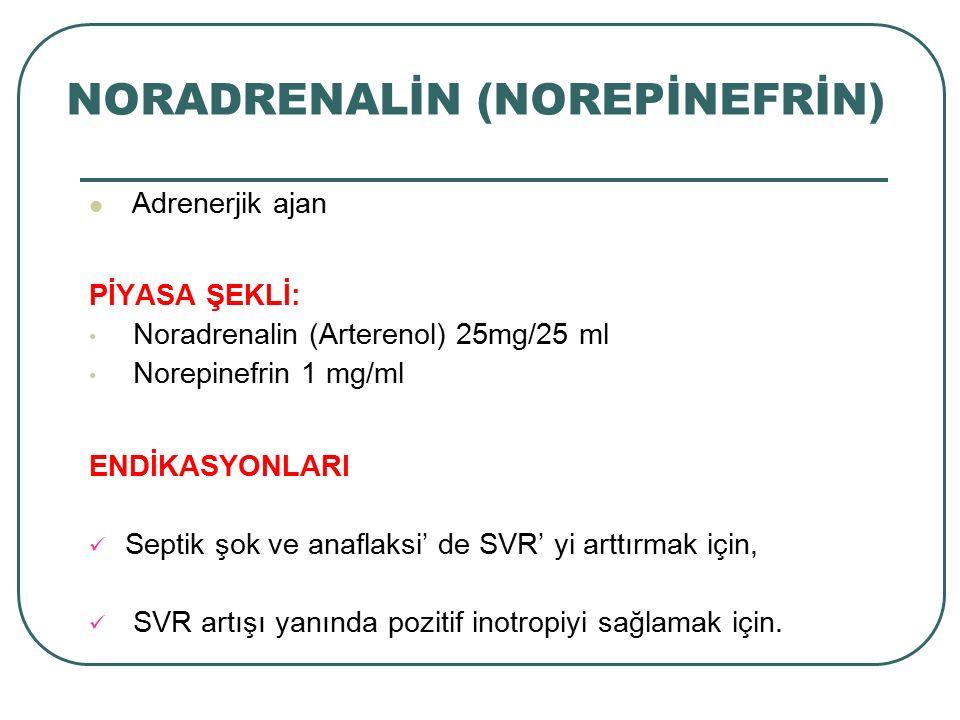 NORADRENALİN (NOREPİNEFRİN)