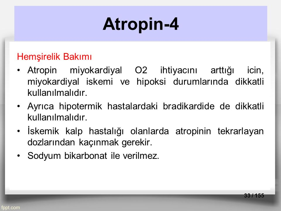 Atropin-4 Hemşirelik Bakımı