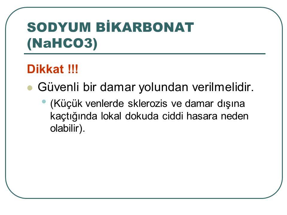 SODYUM BİKARBONAT (NaHCO3)