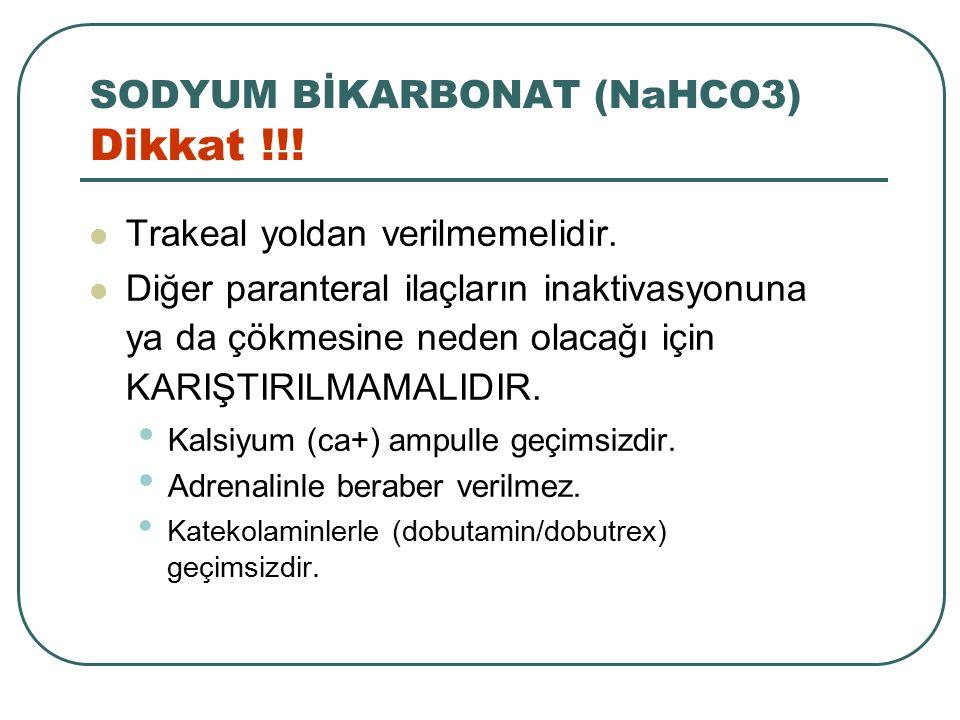 SODYUM BİKARBONAT (NaHCO3) Dikkat !!!