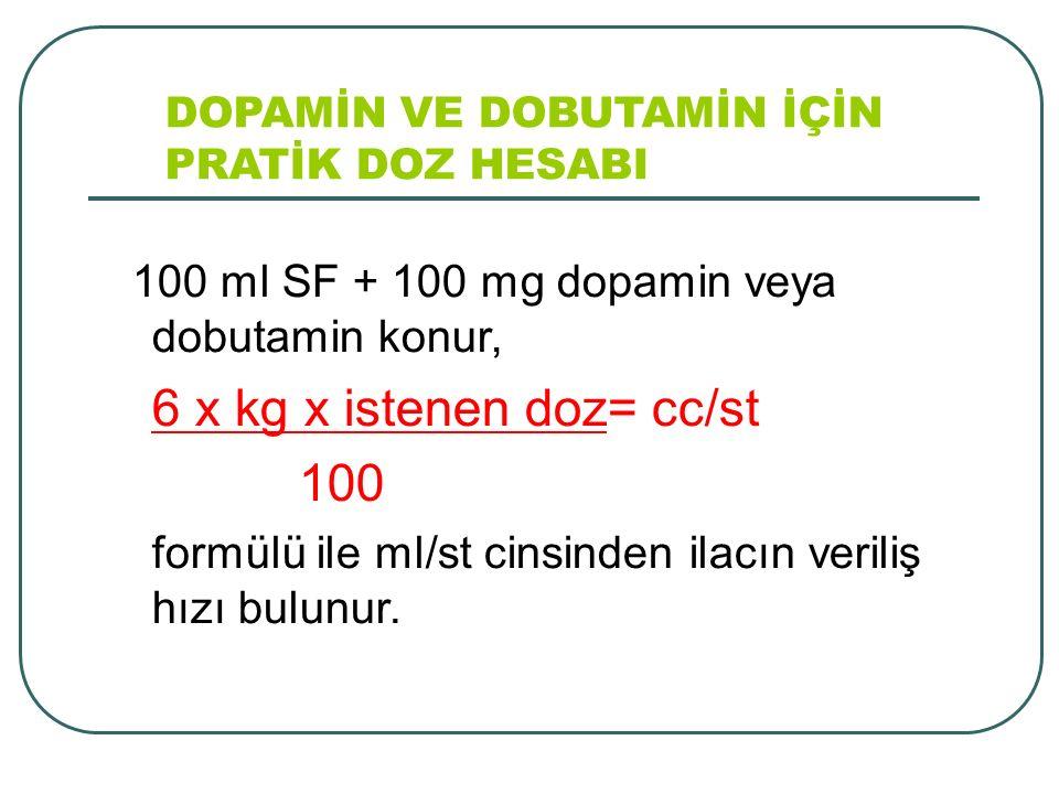 6 x kg x istenen doz= cc/st 100