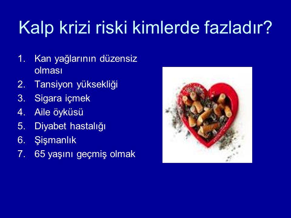 Kalp krizi riski kimlerde fazladır