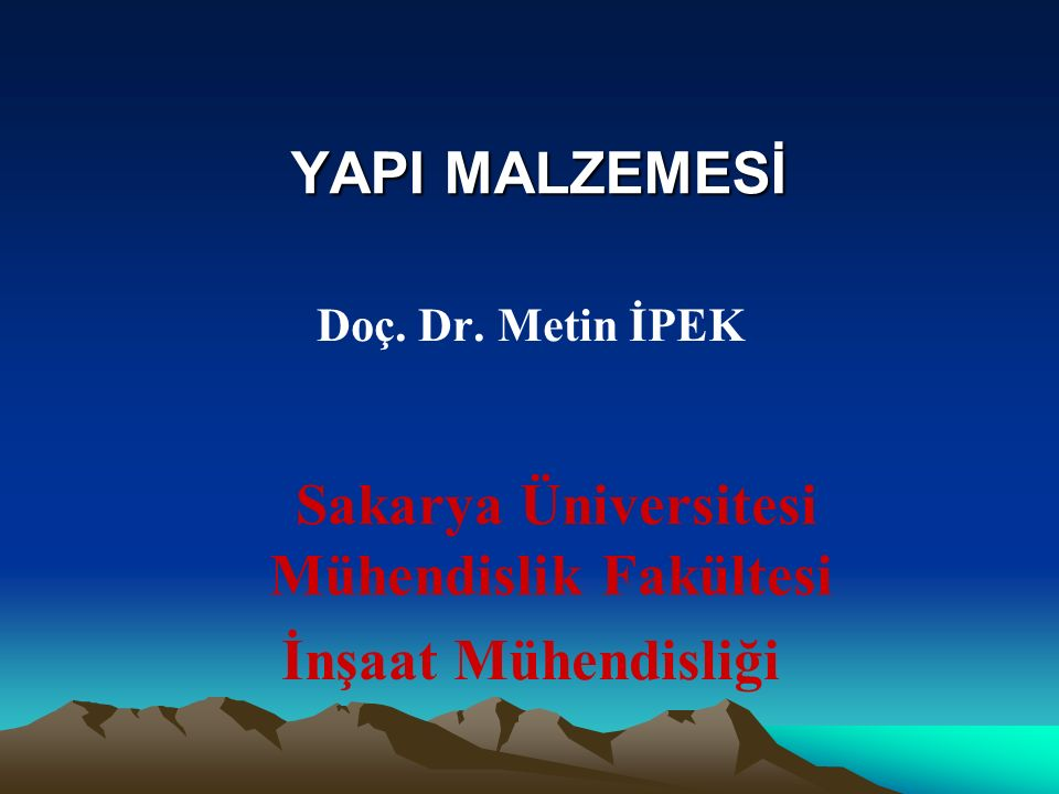 Sakarya Üniversitesi Mühendislik Fakültesi