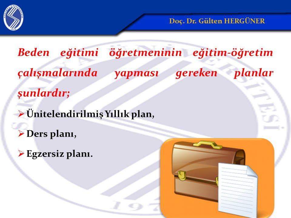 Beden eğitimi öğretmeninin eğitim-öğretim çalışmalarında yapması gereken planlar şunlardır;